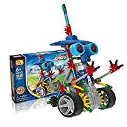 [ Motorial Alien Robot ] LOZ® Robotic Building Set Block Toy ,Battery Motor Operated,3D Puzzle Design Alien Primate Robot Figure for kids and adults , Sturdy Enough , 120 parts(Elf Knights)