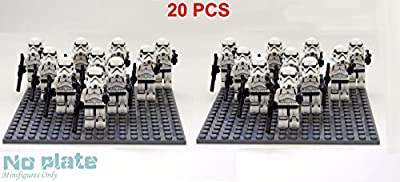 20 pcs Star War White Clone Trooper combat team Minifigure Building Toy US ship