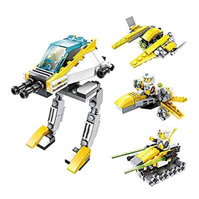 4 in 1 Star Military Wars Figure Building Blocks Set Enlighten Bricks Children Educational Toys For Boys