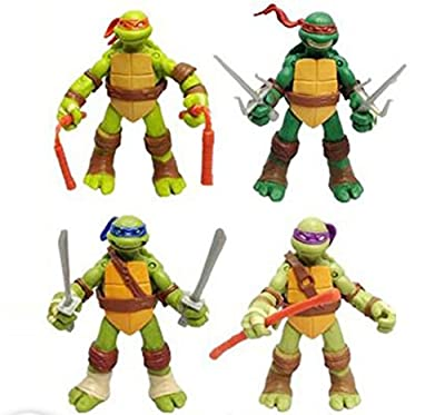 "5"" Teenage Mutant Ninja Turtles Classic Collection TMNT Action Figures Toys, Set of 4pcs (without original) ¡­"