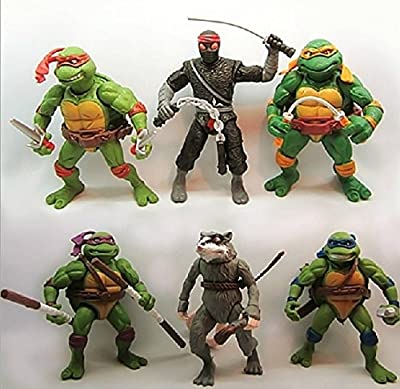 6pcs Teenage Mutant Ninja Turtles Figure Action Classic Collection Toy Set