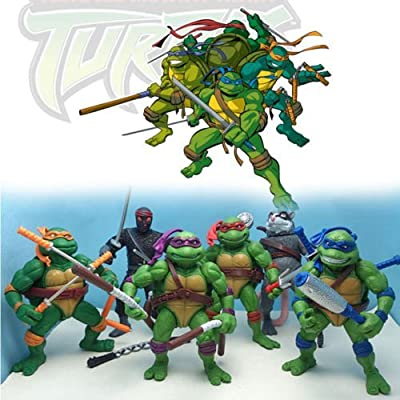6pcs TMNT Teenage Mutant Ninja Turtles Figure Action Classic Collection Toy Set