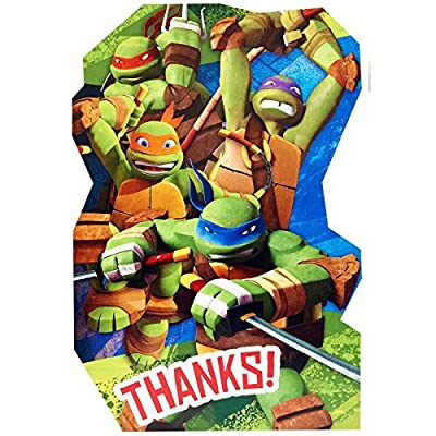 8-Count Teenage Mutant Ninja Turtles Postcard Thank You Notes