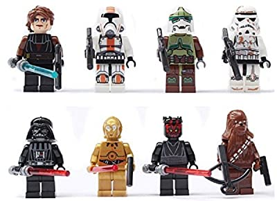 8pcs/lot Super Heroes Star Wars White Clone Soldiers Troops Minifigures Building Blocks Toys Children Gift Compatible with Lego