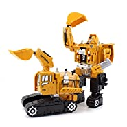 Abbyfrank 2 in 1 Truck Transformation Car Plastic Engineering Construction Vehicle Robot Truck Toy
