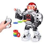 Abco Tech Remote Control RC Robot for Kids – Shoots, Sings, Dances, Talks, Slides – Fun & Entertaining Companion for Kids – Easy to Use, Kid-Friendly Design – LED Lights, Music & Dapper Dance Moves