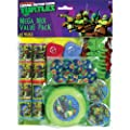 "Amscan Awesome TMNT Mega Mix Birthday Party Favors Value Pack (48 Piece), 11.3 x 8.3"", Multi"