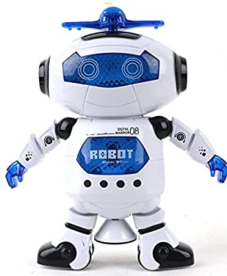 Babrit Kids Electronic Walking Dancing Smart Space Robot Astronaut Music Light Toy
