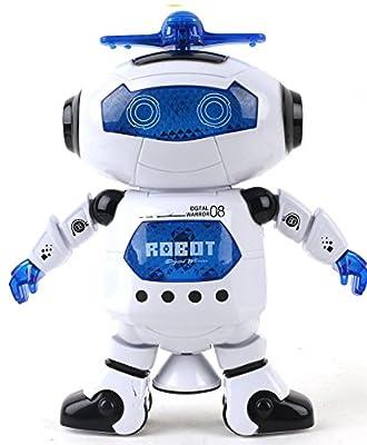 Babrit Kids Electronic Walking Dancing Smart Space Robot Astronaut Music Light Toy