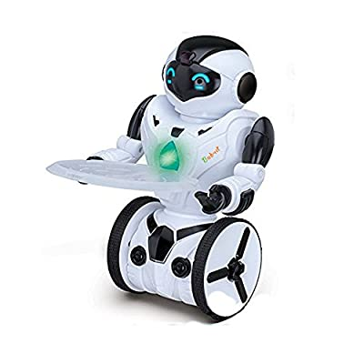 Babrit Roboter Remote Control Robot Smart Self Balancing Robot with 5 Operating Modes as Dancing Boxing Driving Loading Gesture and 2.4Ghz Transmitter