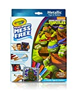 Crayola, Teenage Mutant Ninja Turtles, Color Wonder Mess-Free Coloring Metallic Paper and Markers, Art Tools, Great for Travel