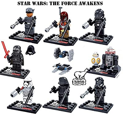 DESO Star Wars 10 Pcs Set Mini Action figures Kylo Ren TIE Pilot Captain Phasma R2D2 Building Block Toy Gift Compatible