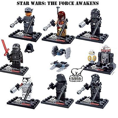 DESO Star Wars 10 Pcs Set Mini Action figures Kylo Ren TIE Pilot Captain Phasma R2D2 Building Block Toy Gift Compatible