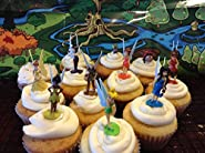 Disney Fairies Tinkerbell Deluxe Mini Figure Set Cake Toppers / Cupcake Party Favor Decorations Set of 12
