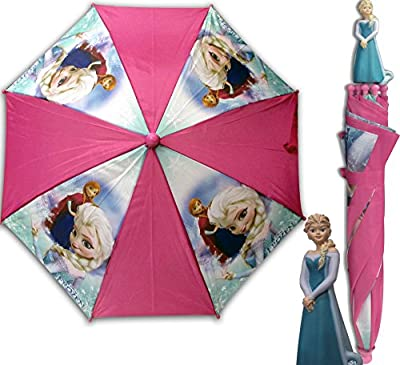 Disney Frozen Elsa Children's Umbrella with 3D Figure Handle (20 Inch)
