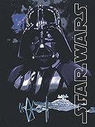"Disney Lucas Films' Star Wars Dark Lord Darth Vader Printed Silk Touch Warm Sherpa Throw / Blanket, 60 by 80"" Twin size"