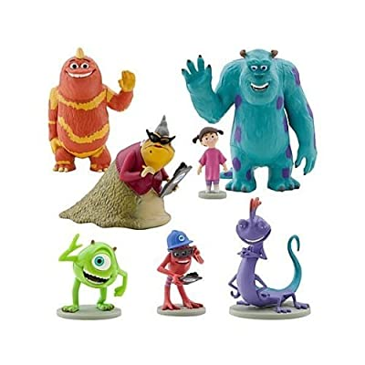 Disney Monsters Inc. Figure Play Set 7 Piece PVC Cake Topper