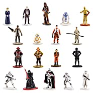 Disney Parks Star Wars The Force Awakens Mini Figures Collector Pack Series 17, Complete Set of all 18 Characters Includes: Princess Leia Organa, Han Solo, Chewbacca, R2D2, C3PO, Finn, BB8, Rey, FlameTrooper, Stormtrooper, SnowTrooper, Poe Dameron, Captai