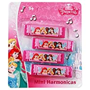 Disney Princess 7x6x.25 4Pk Mini Harmonica