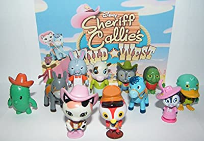 Disney Sheriff Callie's Wild West Show Deluxe Figure Set of 13 with Callie, Deputy Peck, Sparky the Blue Horse, Toby, Tricky Travis and Many More!