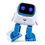 ECHEERS Smart AI Bluetooth Dancing Robot Toys, Wireless Electronic Robot Speaker Dance Moves, Plays Music, Tech Gift for Kids Boys Girls Toddlers 2 Hours Play Time Rechargeable Battery
