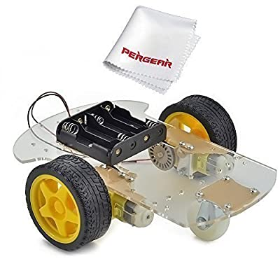 Emgreat® Motor Robot Car Chassis Kit with Speed Encoder wheels and Battery Box