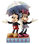 Enesco Disney Traditions by Jim Shore Minnie Mouse and Mickey Mouse Umbrella Stone Resin Figurine, 7.75""