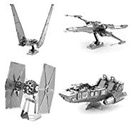 Fascinations Metal Earth 3D Laser Cut Model - Star Wars The Force Awakens Set of 4