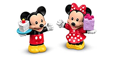 Fisher-Price Little People, Disney Mickey & Minnie Birthday Party Toy Figure