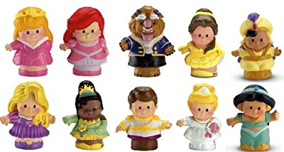 Fisher Price Little People Disney Princess Dolls ~ SET OF 10 Figures