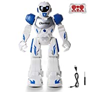 Glantop Remote Control RC Robots Interactive Walking Singing Dancing Smart Programmable Robotics for Kids Boys Girls (Blue)