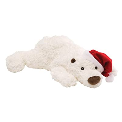 "Gund Fun Christmas Snowdrop Polar Bear 18"" Plush"