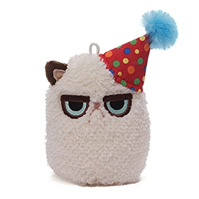 Gund Grumpy Cat Mini Plush (Birthday), 4""