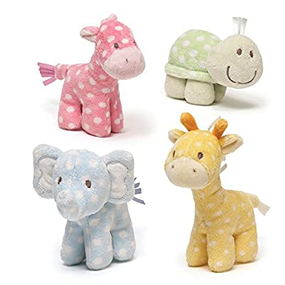 Gund Lolly & Friends Plush Giraffe Elephant Turtle Horse Rattle