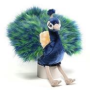 "Gund Midnight Peacock Plush, 10"""