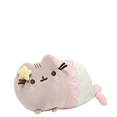GUND Pusheen Mermaid Pose Plush, 7.25 x 12 Inches