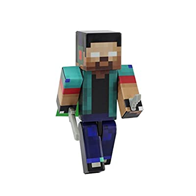 Herobrine Boy Action Figure Toy, 4 Inch Custom Series Figurines by EnderToys