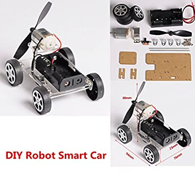 INSMA MINI 4-wheel Windmilling DIY Robot Smart Car Chassis Kits Car Model and Battery Box