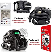 IPG for Vector Robot Face Screen Guard Decoration KIT Protector from Unexpected Attacks of Kids and Pets. Include Wheels&Body Decoration Set 7 Units Decorative Decals+2 Units Screen Protector
