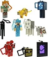 J!NX Minecraft Toy Action Figure Hanger Set Kingfansion (3-Inch 10-Piece) Series 2