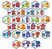 JOYIN 26 Pieces Alphabet Robot Transformer Action Figure Autobots Toys for Kids ABC Learning, Christmas and Birthday Party, School Classroom Rewards, Carnival Prizes, Pre-School Education Toy