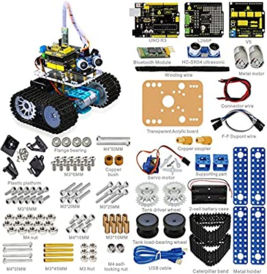 keyestudio Robot Kit for Arduino Uno R3 Project Kit with Tutorial for Stem Education