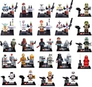 Lego Compatible Star Wars Minifigures Lot of 24 Clone Troopers Jedi Rex