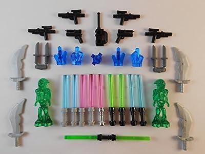 Lego Lightsabers W/ Accessories Lot Of 30 Brand New! Star War Aliens Swords Knifes Gunss
