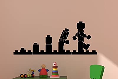 Lego Man Evolution Vinyl Wall Decal Boy Bedroom Decor Girls Room Sticker Baby Nursery Toddler Playroom Toy Star War Movie Lego