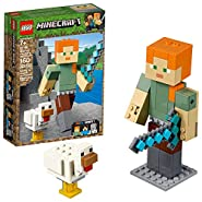 LEGO Minecraft Alex BigFig with Chicken 21149 Building Kit (160 Piece)