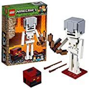 LEGO Minecraft BigFig Skeleton with Magma Cube Building Kit (142 Piece)