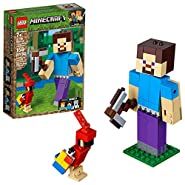 LEGO Minecraft Steve BigFig with Parrot 21148 Building Kit (159 Piece)