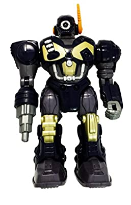 M.A.R.S. Motorized Walking Cyber Bot Attack Robot Dark Blue w/Bronze/gold - Polar Captain