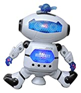 MazaaShop Digital Dancing Warrior Robot Toy Figure with Colorful Rotating Lights, Music, Dancing Action, 360° Spins